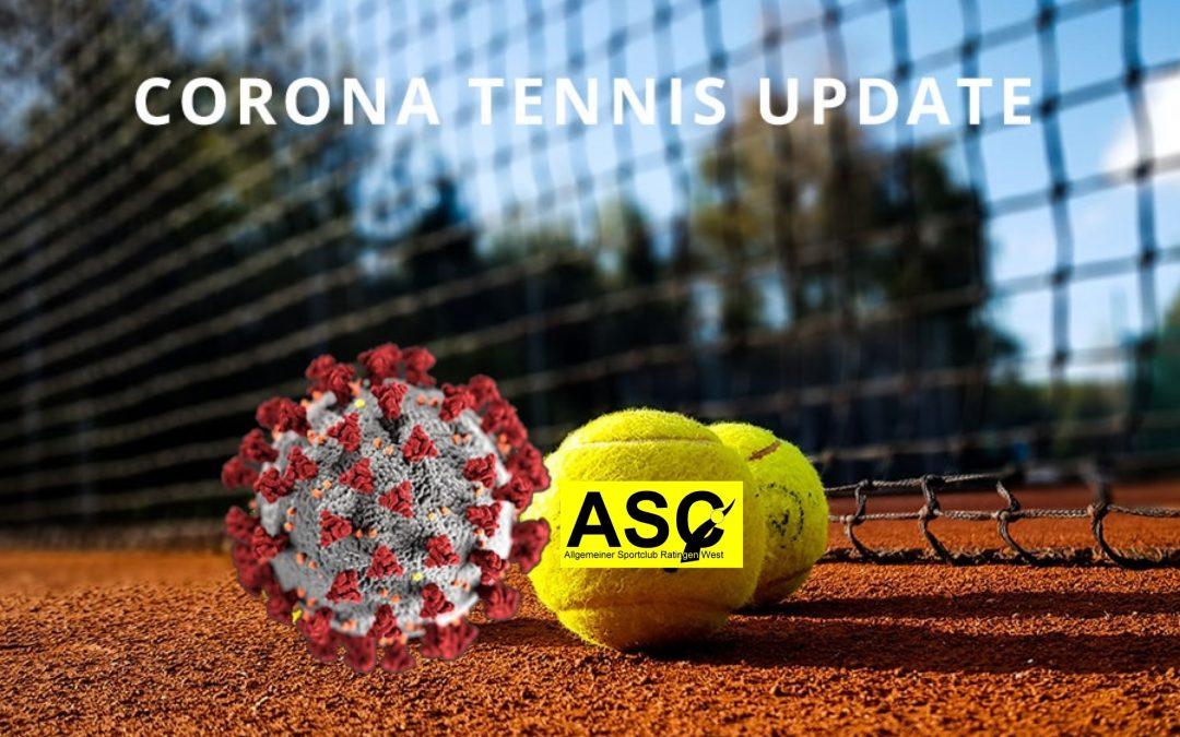 Corona Tennis Update – geöffnet ab Mittwoch (31.03.2021)